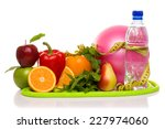 fitness equipment and healthy... | Shutterstock . vector #227974060
