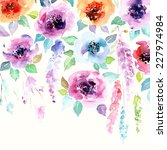 floral background. watercolor... | Shutterstock .eps vector #227974984