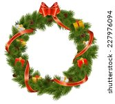 vector christmas wreath with... | Shutterstock .eps vector #227976094