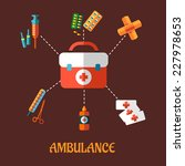 ambulance concept with a vector ... | Shutterstock .eps vector #227978653