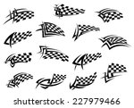 racing sport checkered flag... | Shutterstock .eps vector #227979466