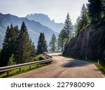 country road at the european... | Shutterstock . vector #227980090