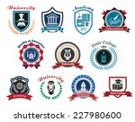 university  academy and college ... | Shutterstock .eps vector #227980600