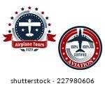 circular aviation emblems or...