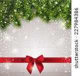 christmas greeting card | Shutterstock .eps vector #227984386