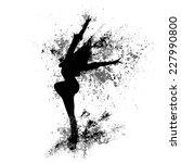 Dancing Girl Black Splash Paint ...