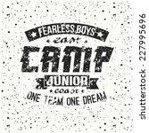 junior sports training camp... | Shutterstock .eps vector #227995696
