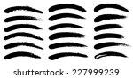 black ink vector brush strokes | Shutterstock .eps vector #227999239