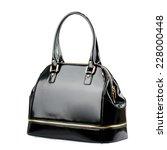 Black Glossy Female Bag...