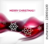 purple color christmas blurred... | Shutterstock .eps vector #228001630