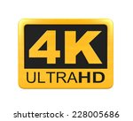 ultra hd 4k icon | Shutterstock . vector #228005686