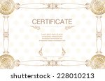 certificate template  thai style | Shutterstock .eps vector #228010213