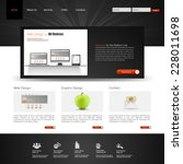 website interface template...