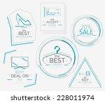 minimal line design shopping... | Shutterstock .eps vector #228011974