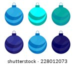 Christmas Blue Bulb   Ball Set...