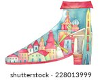 shoes in the world | Shutterstock . vector #228013999