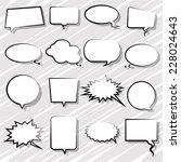 bubbles set for comic | Shutterstock .eps vector #228024643