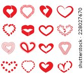 heart icons vector files. | Shutterstock .eps vector #228027670