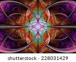 fractal geometry butterfly | Shutterstock . vector #228031429