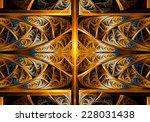 fractal geometry fantasy | Shutterstock . vector #228031438
