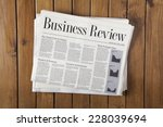 daily newspaper stack on the... | Shutterstock . vector #228039694