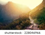 path in beautiful mountains at... | Shutterstock . vector #228046966