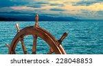 Steering Wheel At Sea...