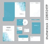 stationery template design.... | Shutterstock .eps vector #228052459