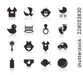 flat concept  set modern design ... | Shutterstock .eps vector #228053830
