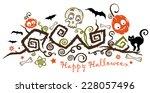 halloween illustration  creepy... | Shutterstock .eps vector #228057496