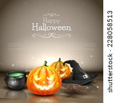 modern halloween background... | Shutterstock .eps vector #228058513