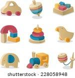 Retro Baby Wood Toys Icon...