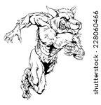 a werewolf wolf man character... | Shutterstock . vector #228060466