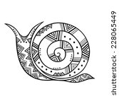 stylized ornamental snail... | Shutterstock .eps vector #228065449
