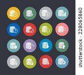 database icons for internet | Shutterstock .eps vector #228065860