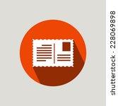 a postcard   flat design icon | Shutterstock .eps vector #228069898