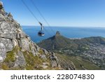 cape town's table mountain ... | Shutterstock . vector #228074830
