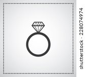 diamond engagement ring vector... | Shutterstock .eps vector #228074974
