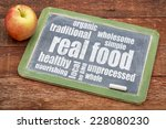 Real Food Word Cloud On A...