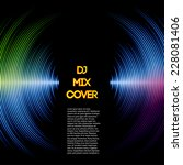 dj mix cover with music...   Shutterstock .eps vector #228081406