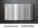 stainless steel metal plate... | Shutterstock . vector #228083086