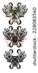 tribal heraldic eagle | Shutterstock .eps vector #228083560