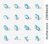 3d vector isometric design... | Shutterstock .eps vector #228086638