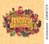 christmas card. vector... | Shutterstock .eps vector #228087274