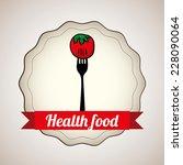 health food  graphic design  ... | Shutterstock .eps vector #228090064