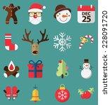 flat design of icons set  for... | Shutterstock .eps vector #228091720