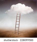 cloud ladder | Shutterstock . vector #228099583