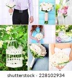wedding collage | Shutterstock . vector #228102934