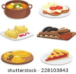 argentinian dishes icon set... | Shutterstock .eps vector #228103843