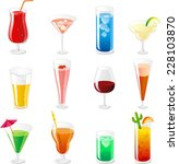 cocktail and drink icon... | Shutterstock .eps vector #228103870